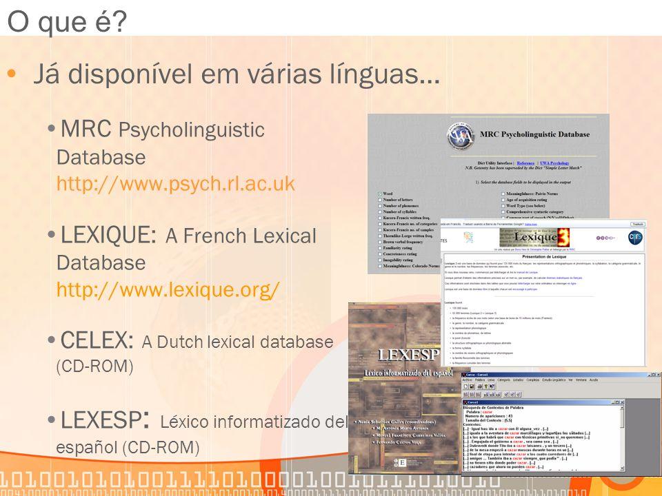 Já disponível em várias línguas…