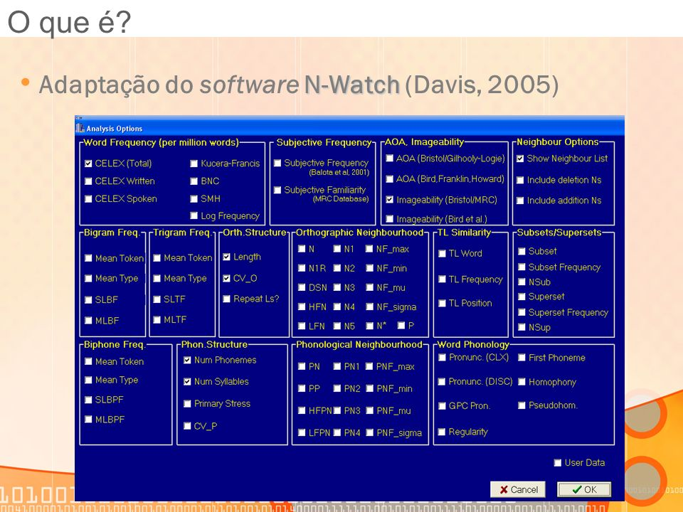 O que é Adaptação do software N-Watch (Davis, 2005)