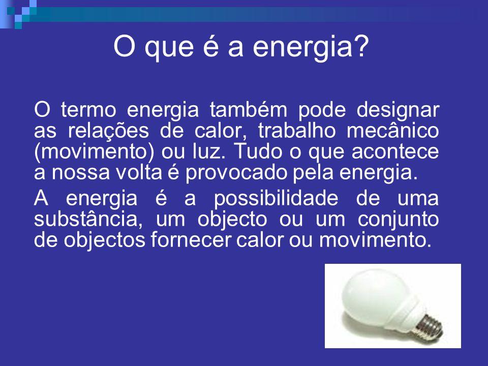 O que é a energia