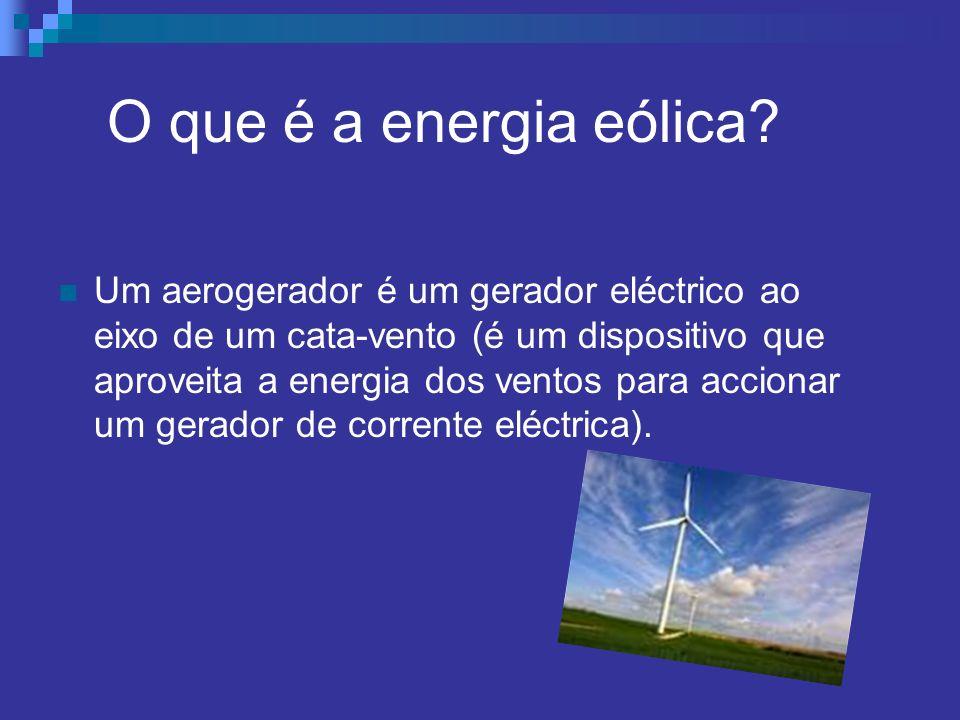 O que é a energia eólica