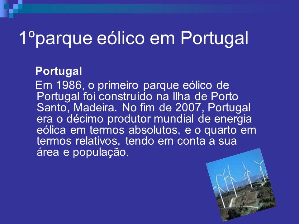 1ºparque eólico em Portugal