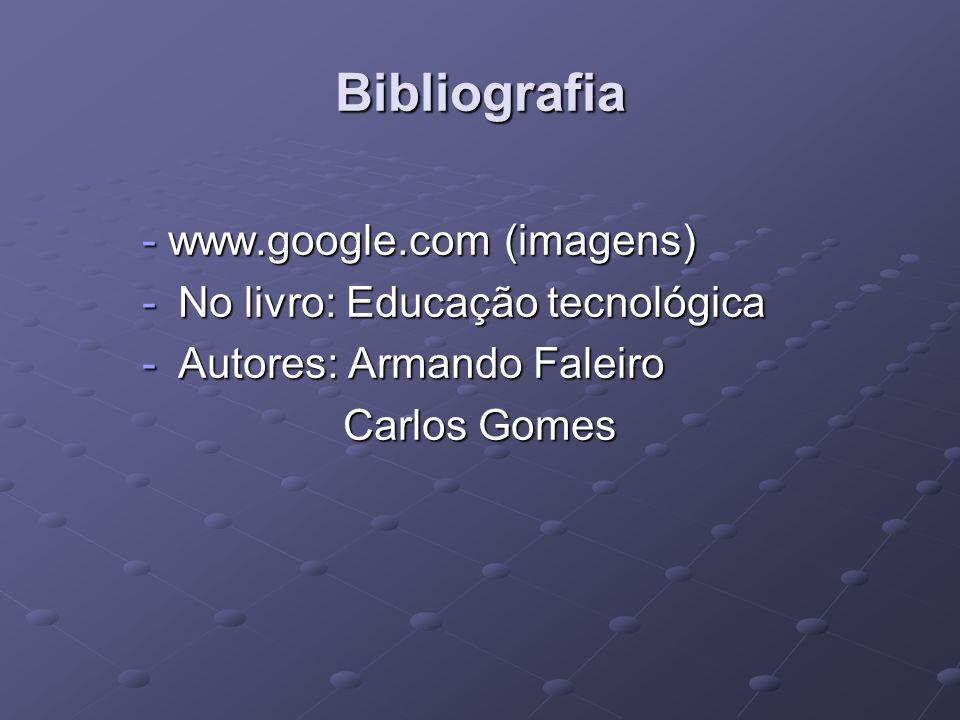 Bibliografia - www.google.com (imagens) No livro: Educação tecnológica