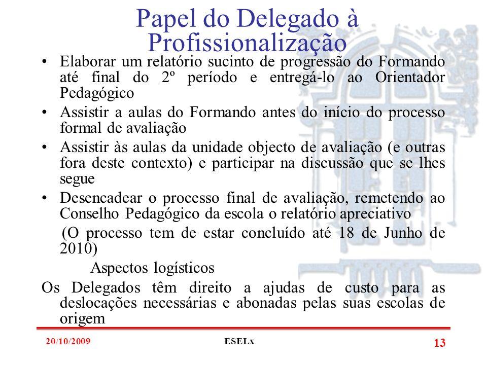 Papel do Delegado à Profissionalização