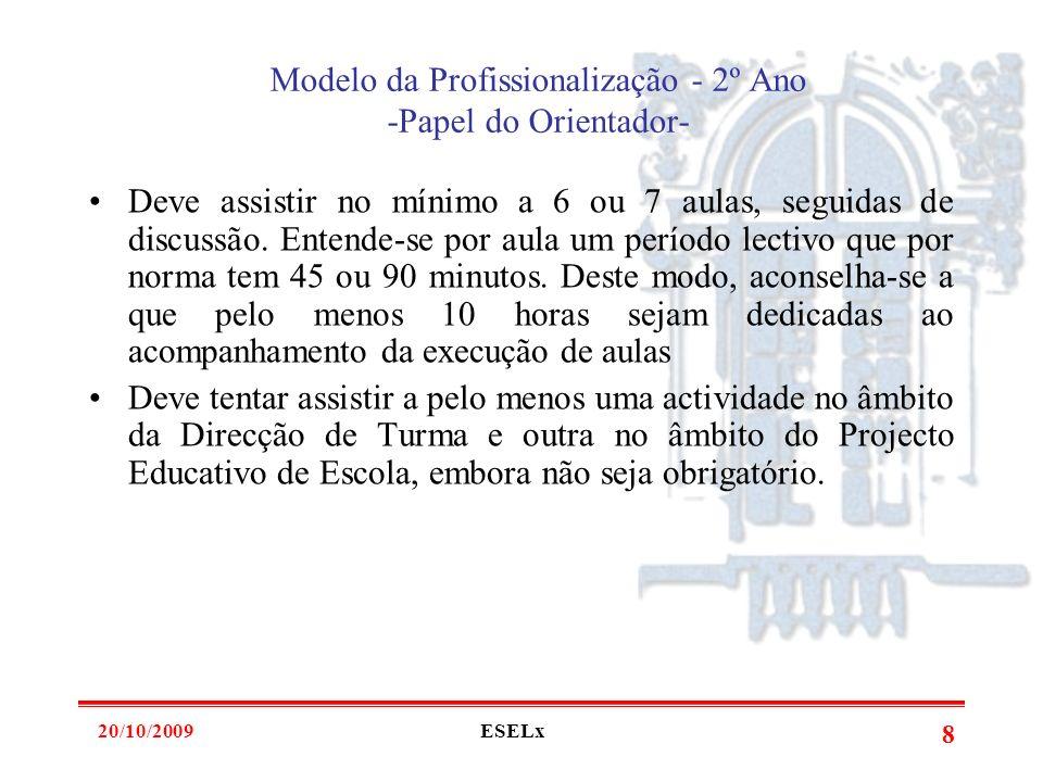 Modelo da Profissionalização - 2º Ano -Papel do Orientador-