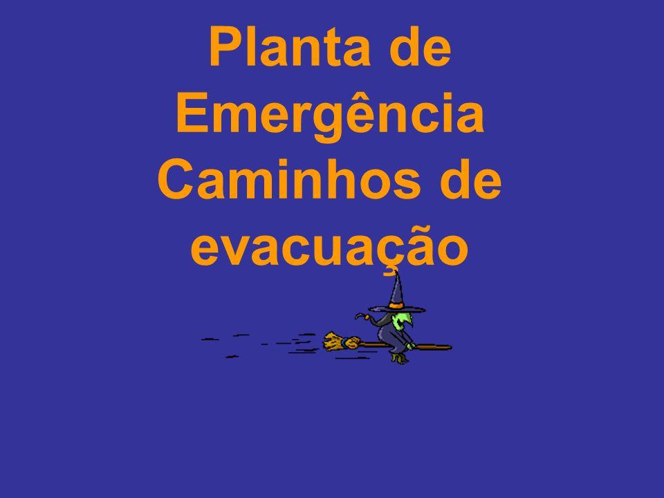 Planta de Emergência Caminhos de evacuação