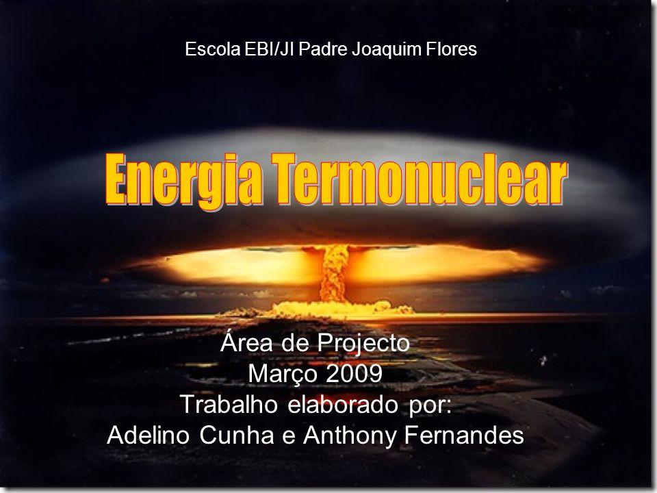 Energia Termonuclear Área de Projecto Março 2009