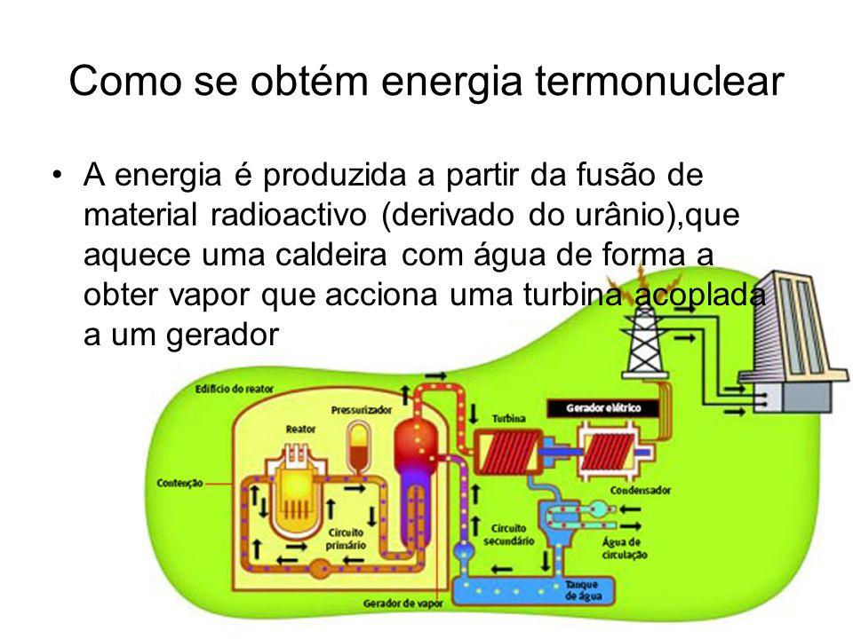 Como se obtém energia termonuclear
