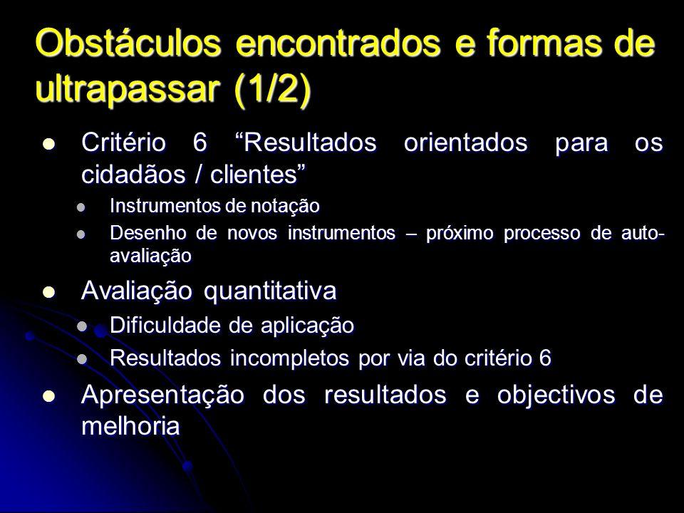 Obstáculos encontrados e formas de ultrapassar (1/2)