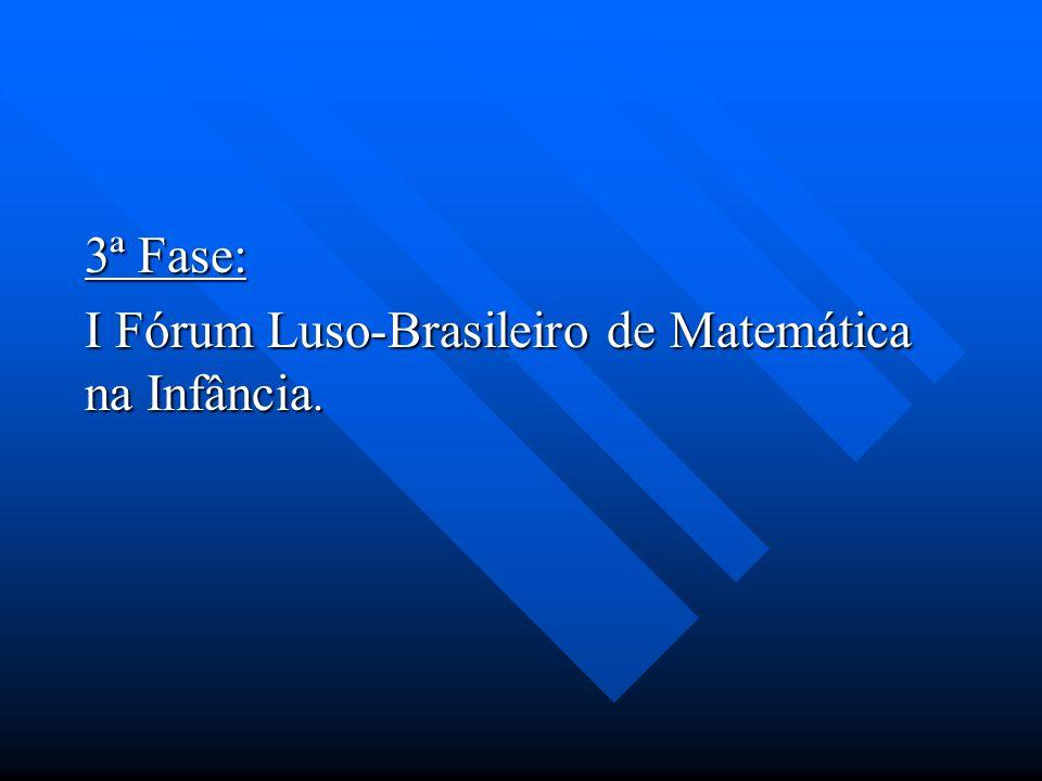 I Fórum Luso-Brasileiro de Matemática na Infância.