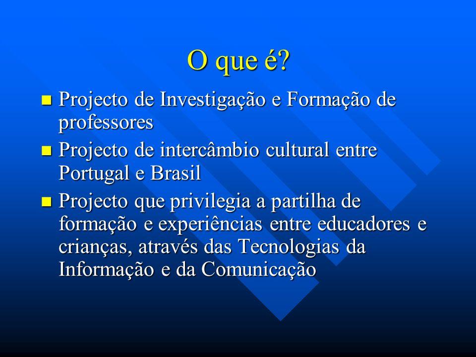 O que é Projecto de Investigação e Formação de professores
