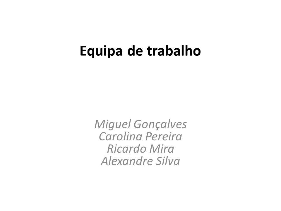 Miguel Gonçalves Carolina Pereira Ricardo Mira Alexandre Silva
