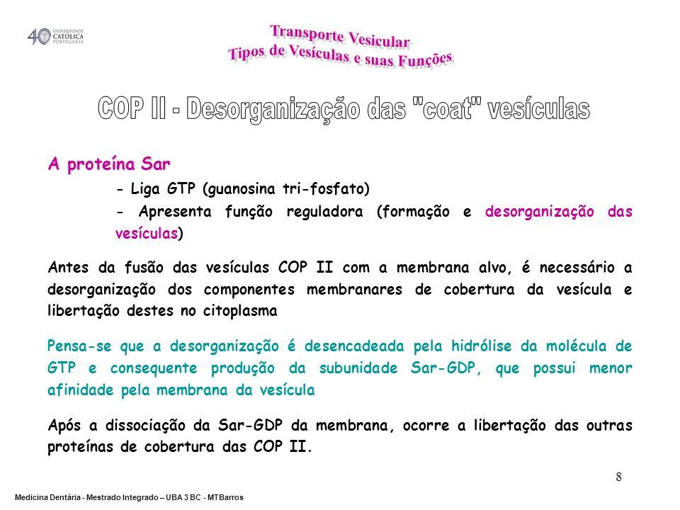 COP II - Desorganização das coat vesículas