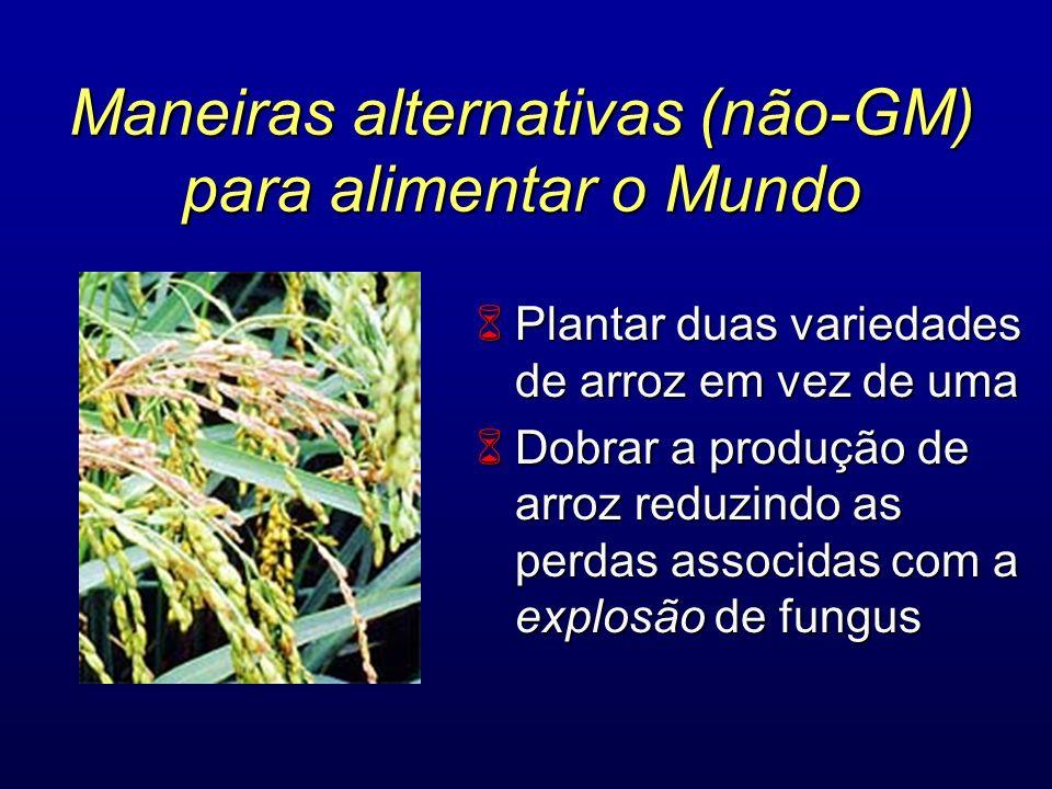 Maneiras alternativas (não-GM) para alimentar o Mundo
