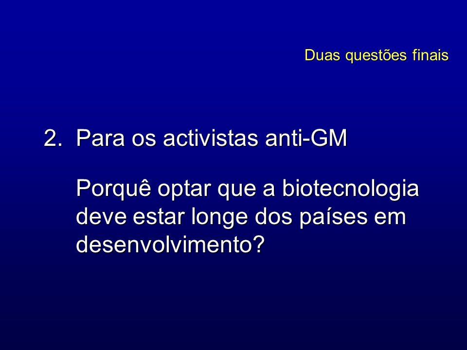 Para os activistas anti-GM