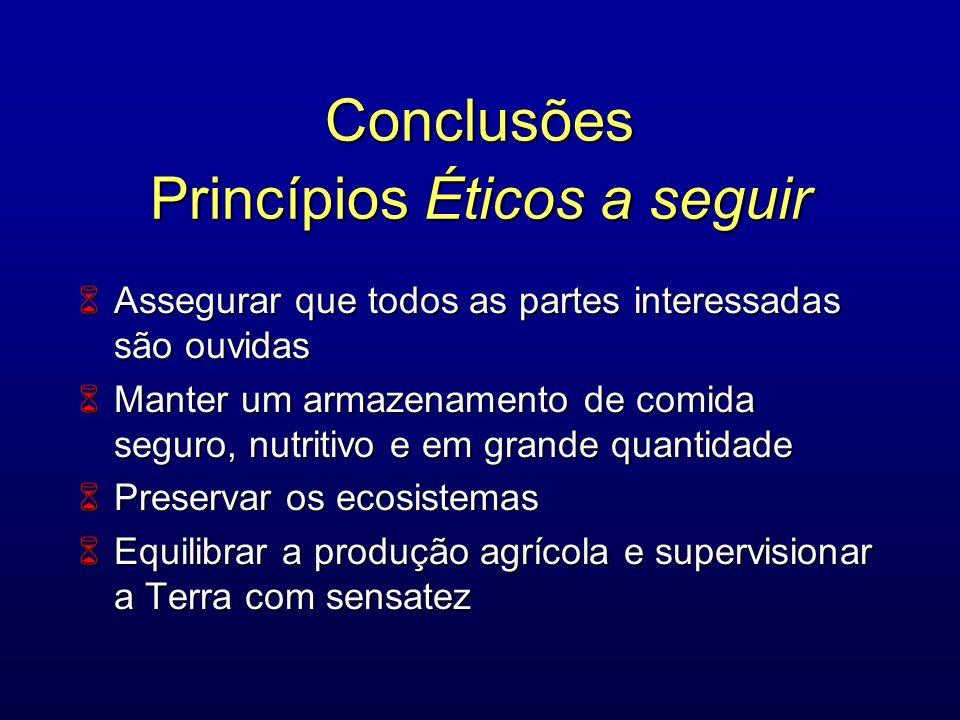 Conclusões Princípios Éticos a seguir