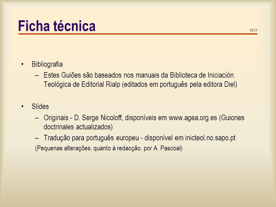 Ficha técnica Bibliografia