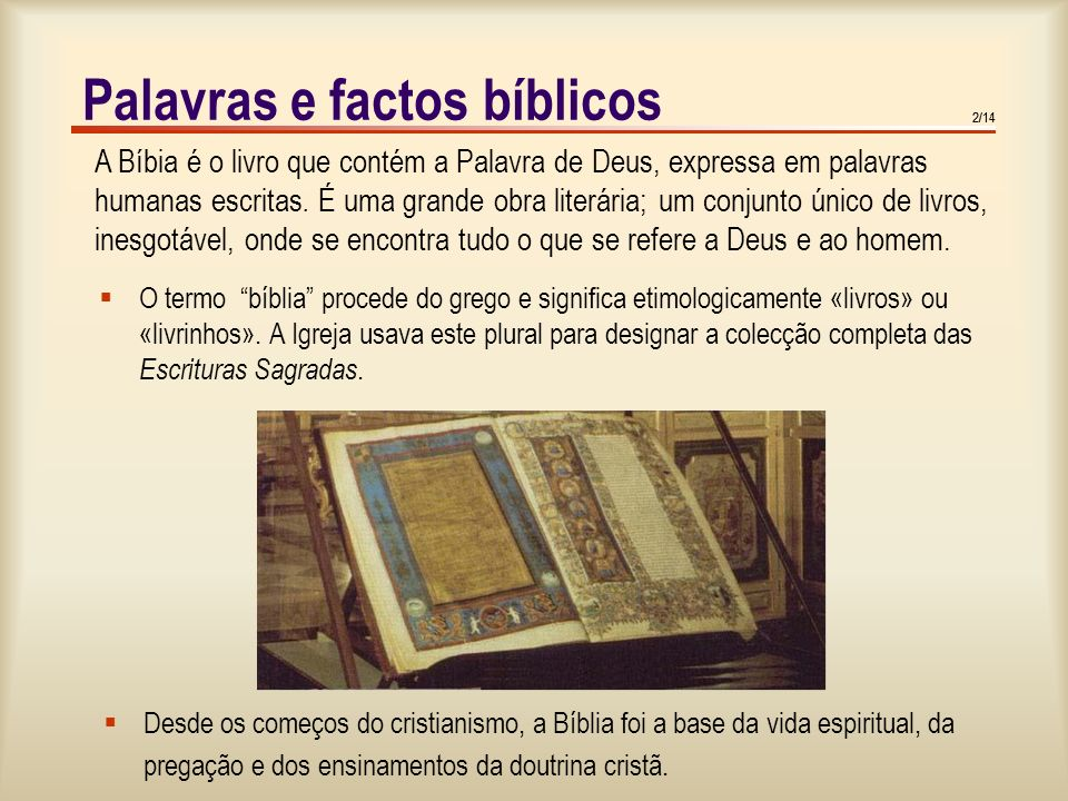 Palavras e factos bíblicos