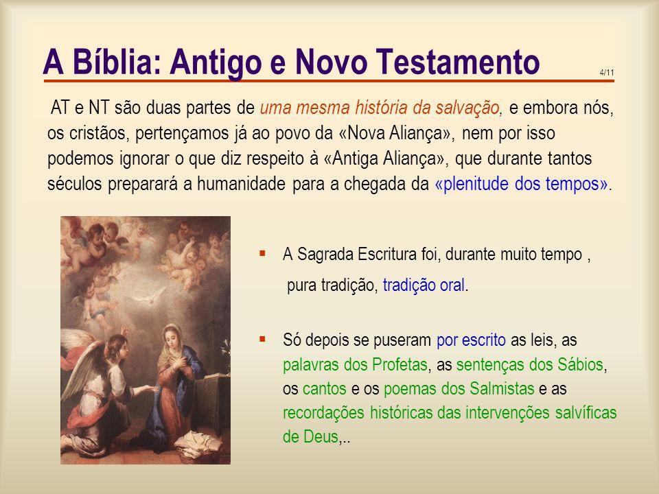 A Bíblia: Antigo e Novo Testamento