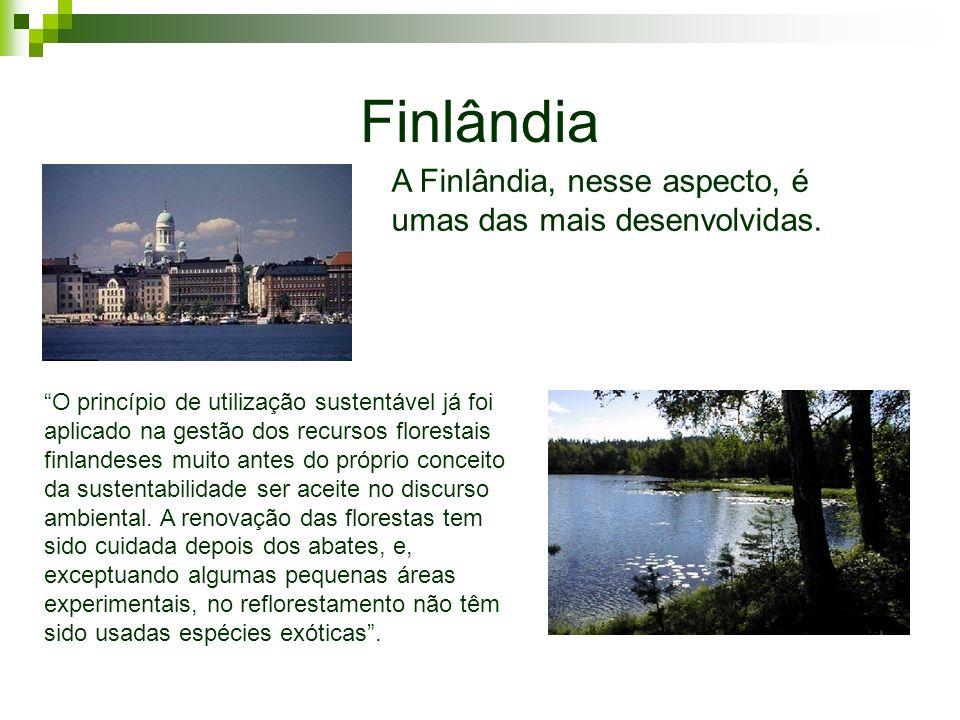 Finlândia A Finlândia, nesse aspecto, é umas das mais desenvolvidas.