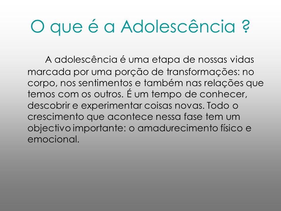 O que é a Adolescência