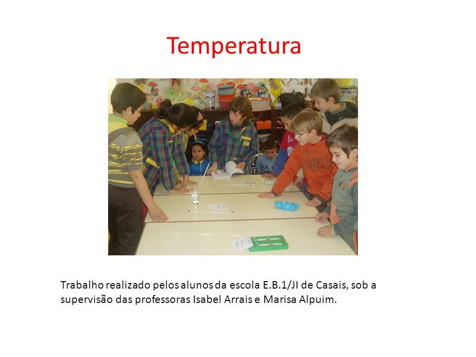 TemperaturaTrabalho realizado pelos alunos da escola E.B.1/JI de Casais, sob a supervisão das professoras Isabel Arrais e Marisa Alpuim.