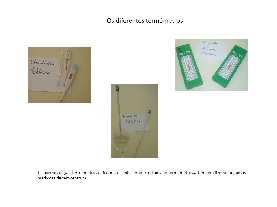 Os diferentes termómetros