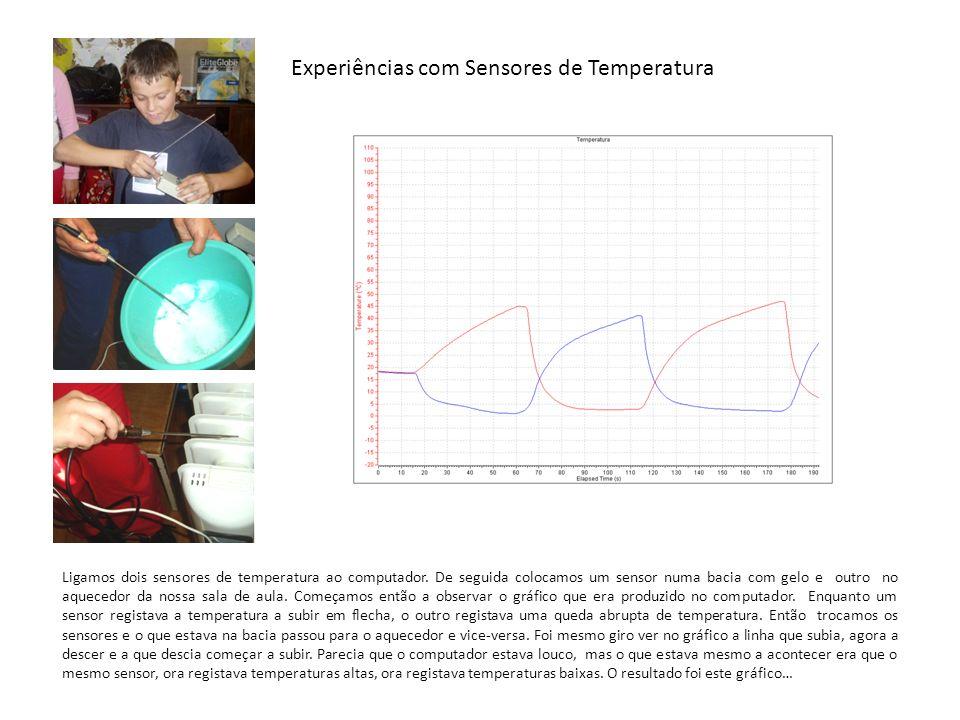 Experiências com Sensores de Temperatura