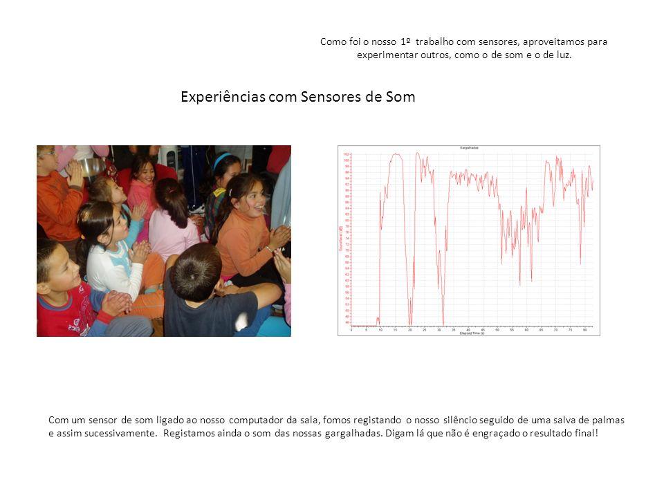 Experiências com Sensores de Som