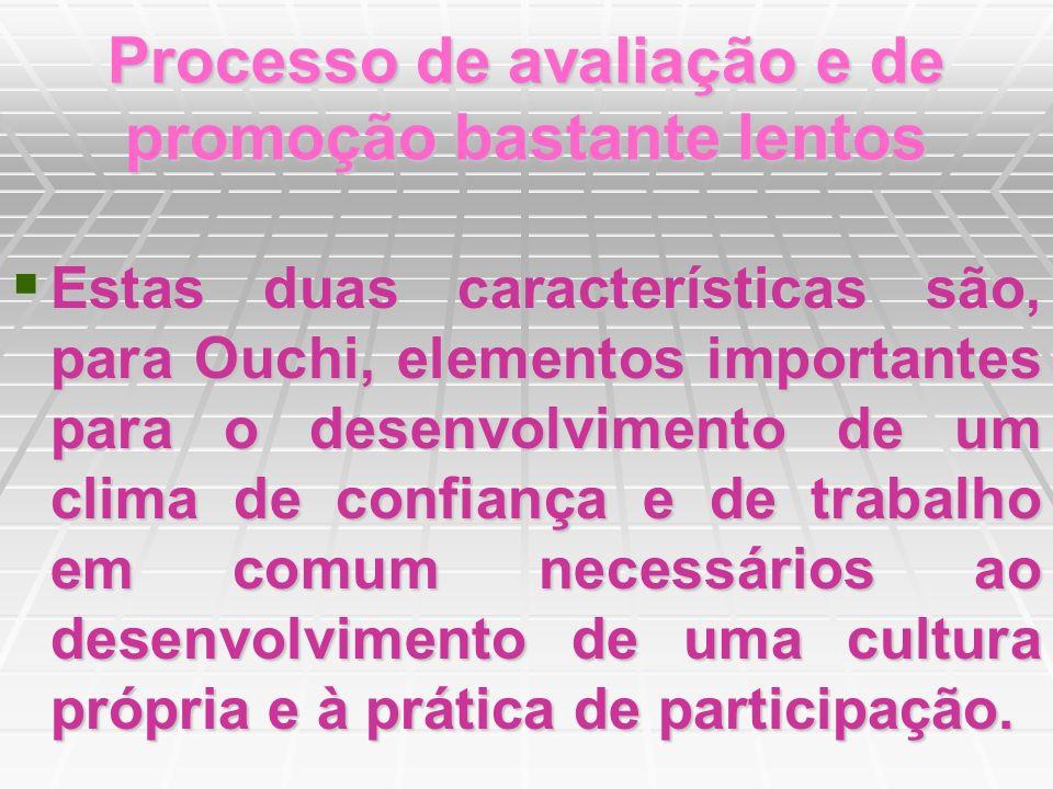 Processo de avaliação e de promoção bastante lentos