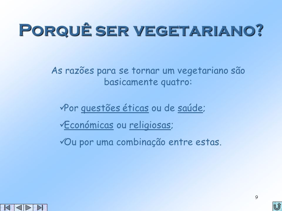 Porquê ser vegetariano