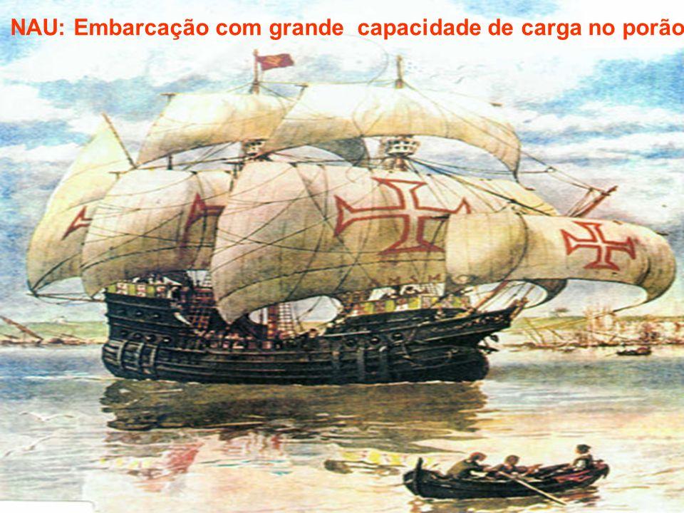 NAU: Embarcação com grande capacidade de carga no porão