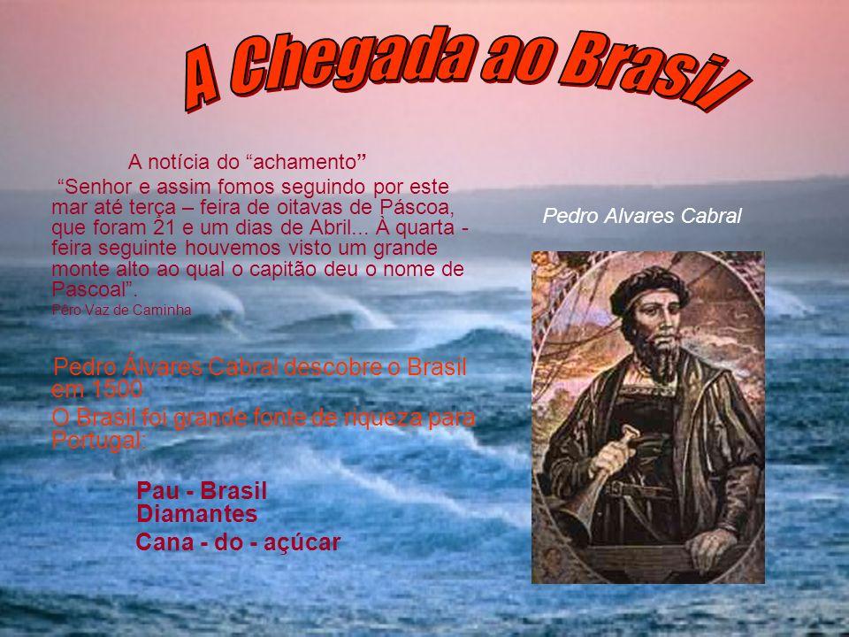 A Chegada ao Brasil A notícia do achamento