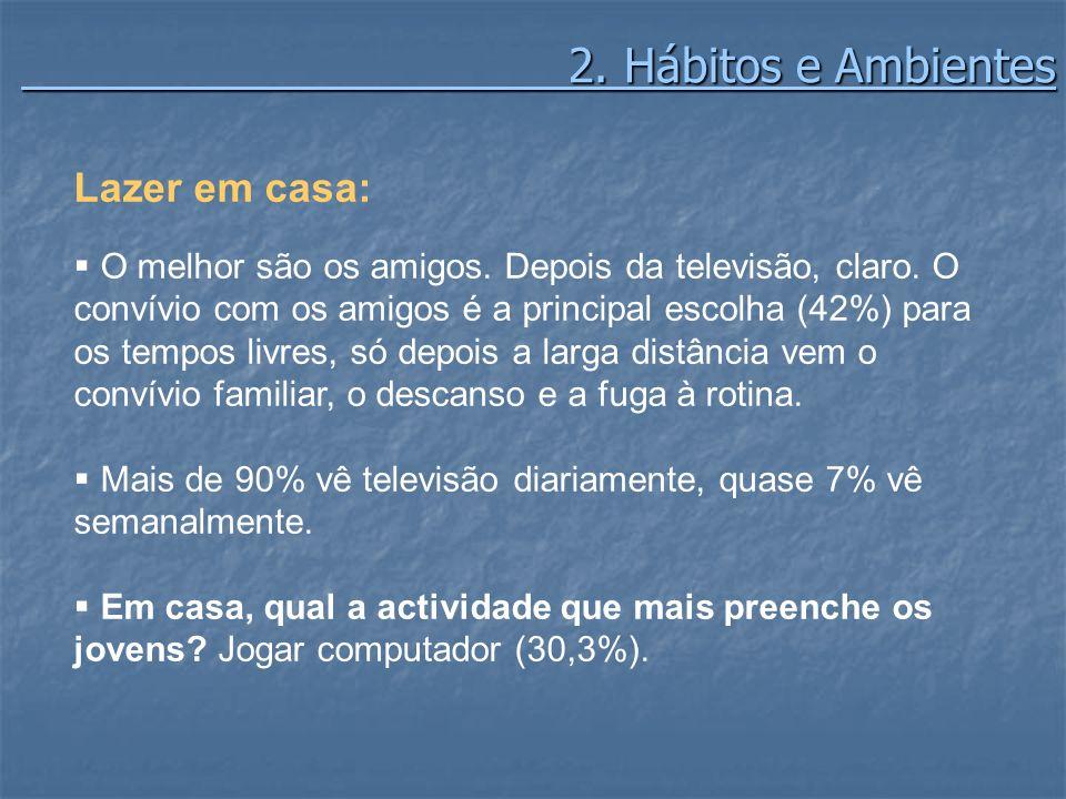 2. Hábitos e Ambientes Lazer em casa: