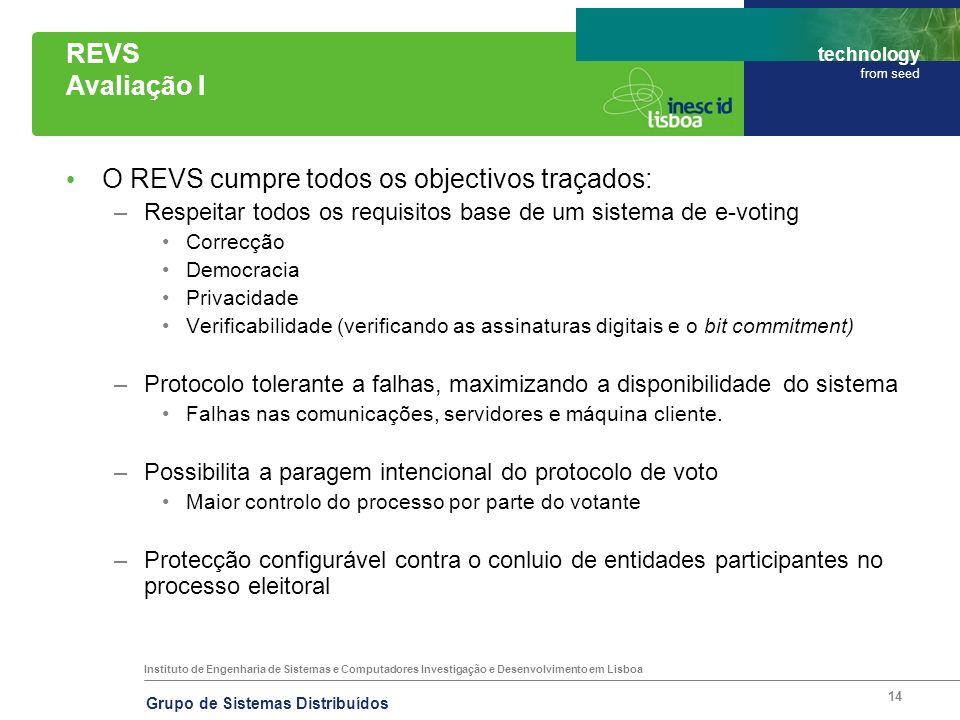 O REVS cumpre todos os objectivos traçados: