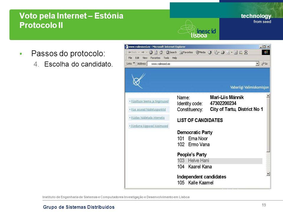 Voto pela Internet – Estónia Protocolo II