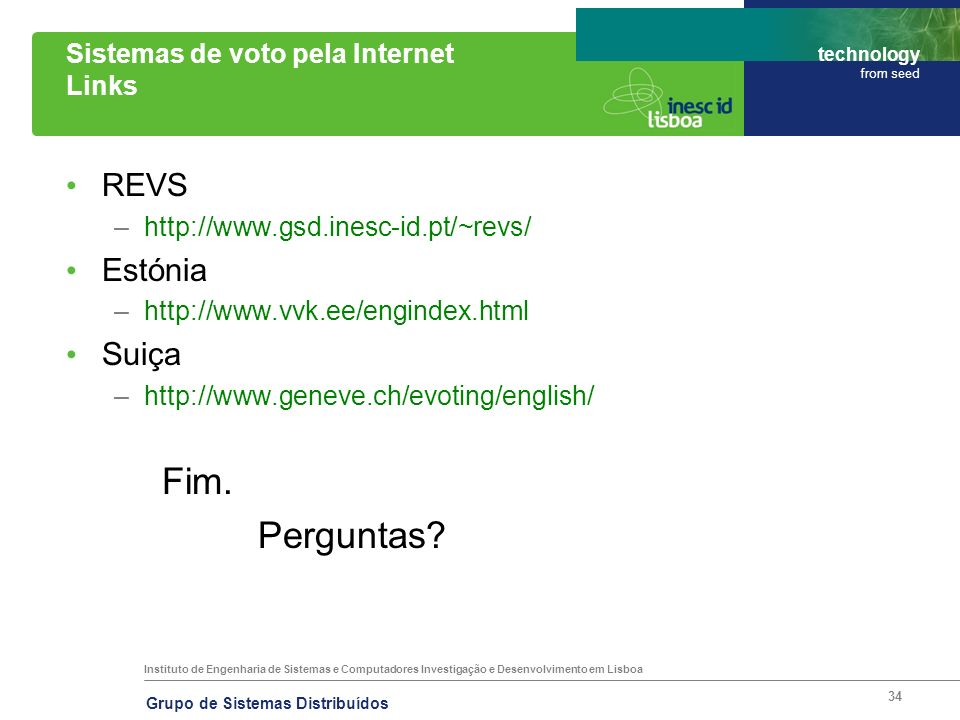 Sistemas de voto pela Internet Links