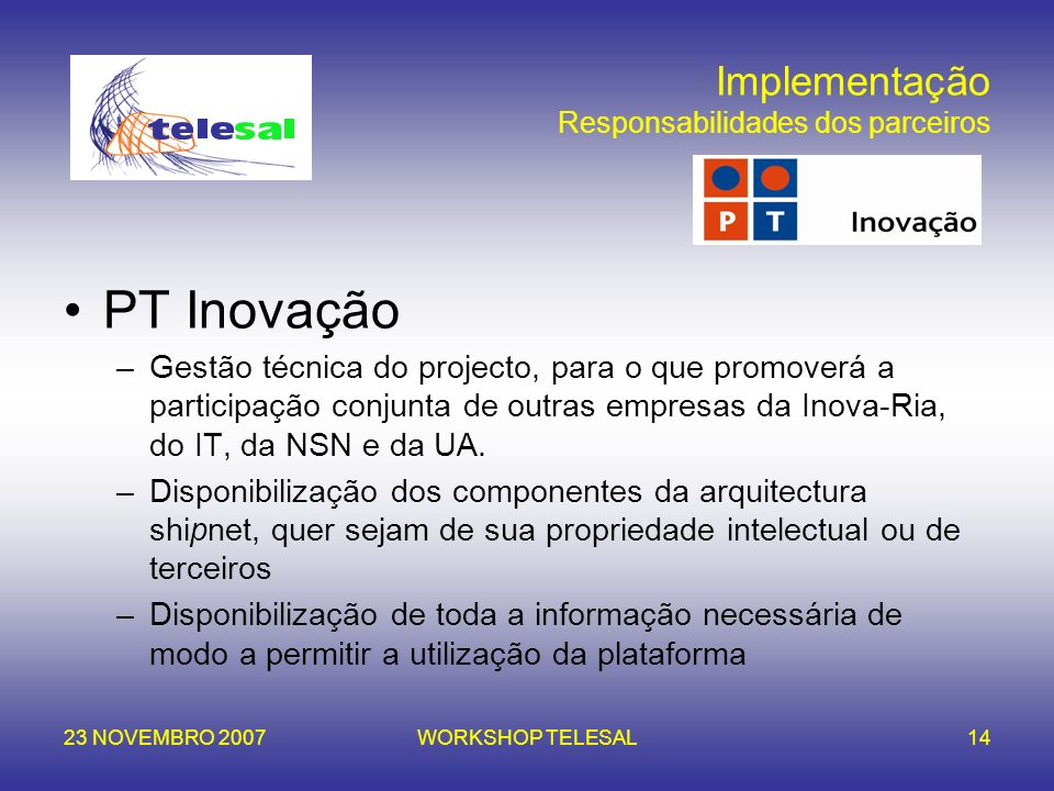 Projecto salina setting an all ip network in aveiro ppt for Arquitectura tecnica ua