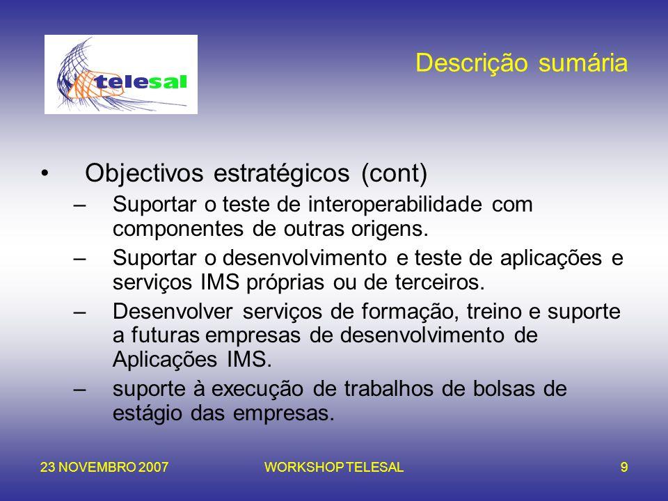 Objectivos estratégicos (cont)