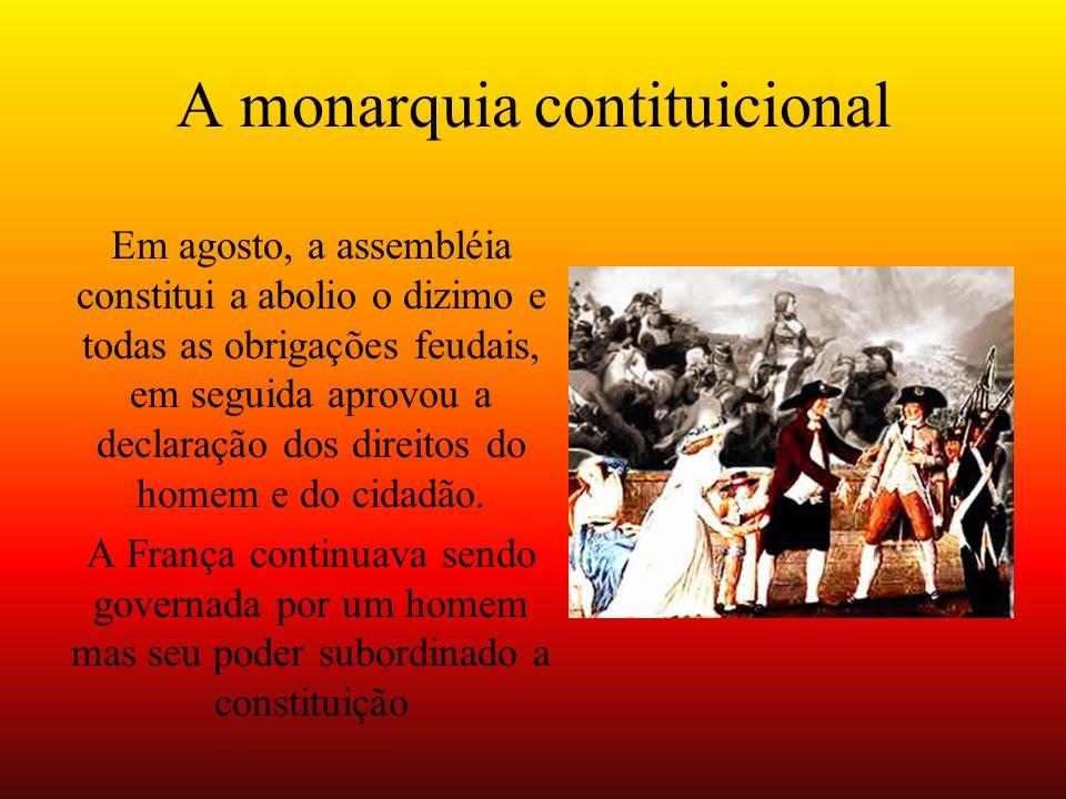 A monarquia contituicional