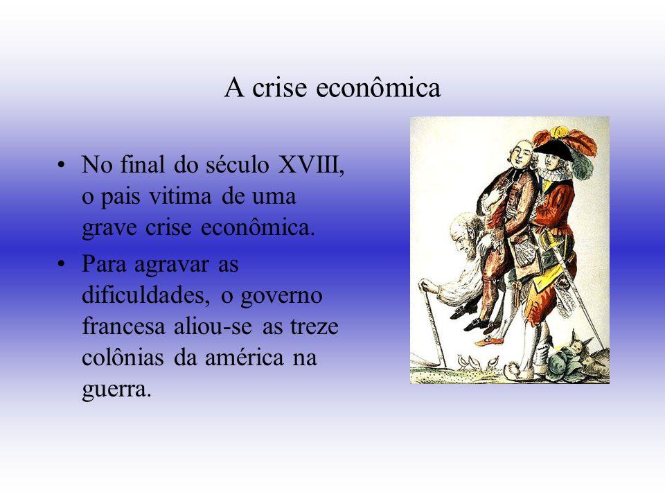 A crise econômica No final do século XVIII, o pais vitima de uma grave crise econômica.