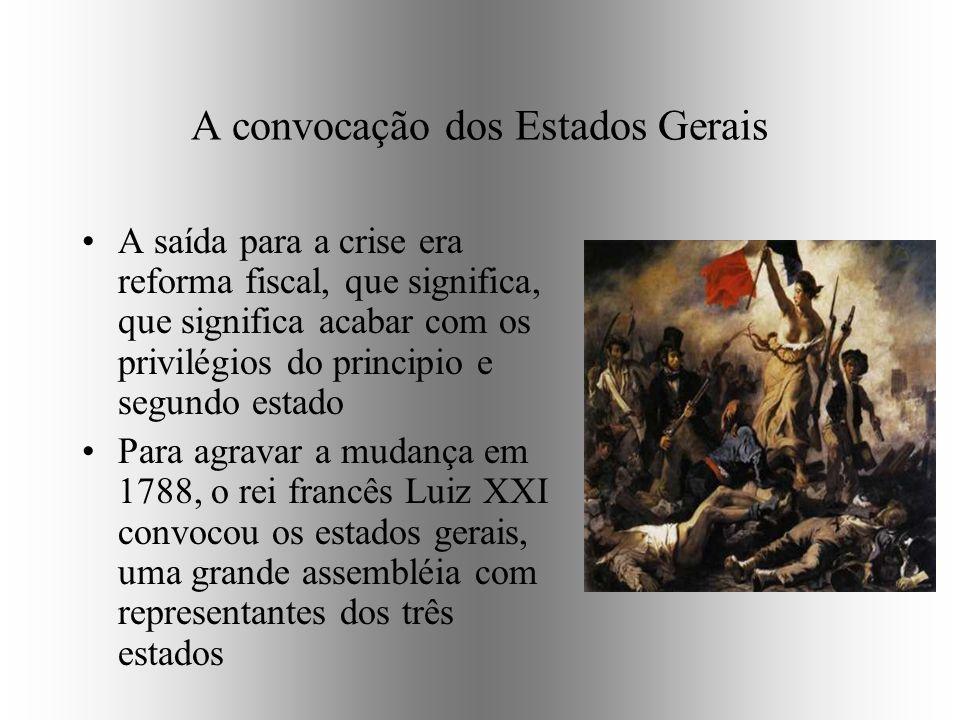 A convocação dos Estados Gerais