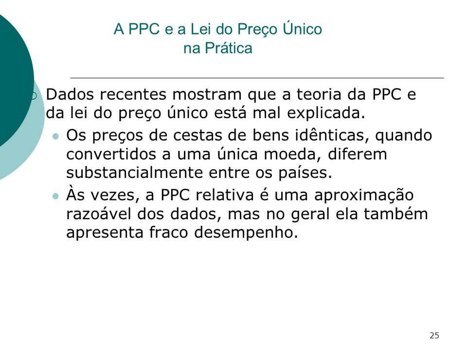 A PPC e a Lei do Preço Único na Prática