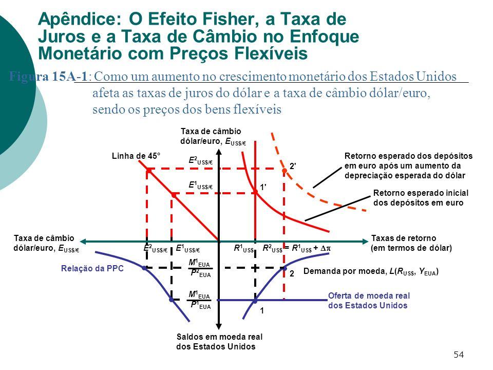 Apêndice: O Efeito Fisher, a Taxa de Juros e a Taxa de Câmbio no Enfoque Monetário com Preços Flexíveis