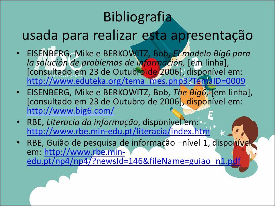 Bibliografia usada para realizar esta apresentação
