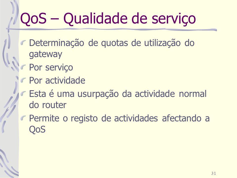 QoS – Qualidade de serviço