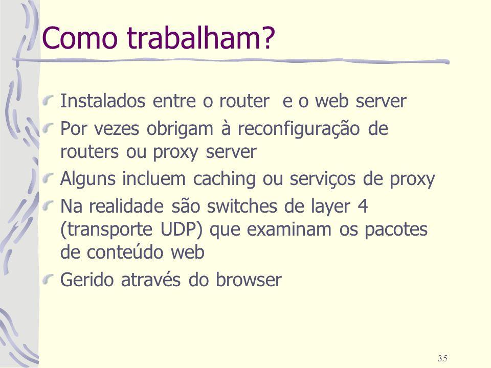 Como trabalham Instalados entre o router e o web server