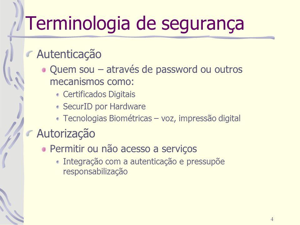 Terminologia de segurança