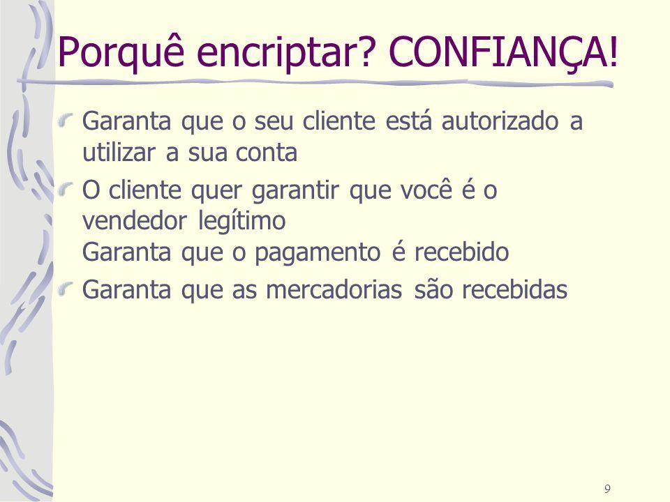 Porquê encriptar CONFIANÇA!