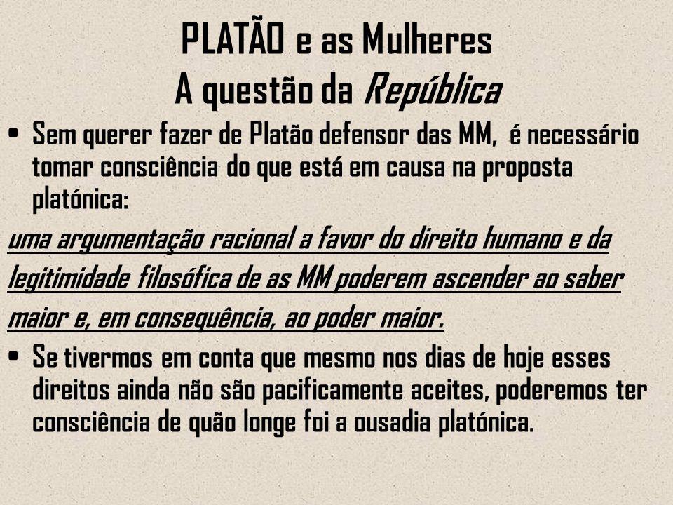 PLATÃO e as Mulheres A questão da República
