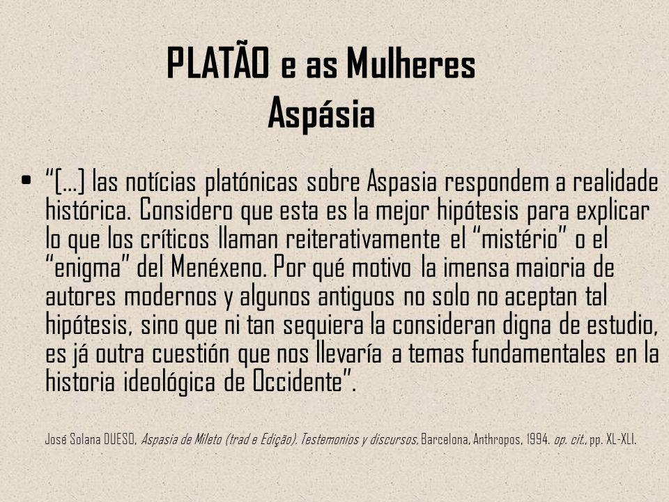 PLATÃO e as Mulheres Aspásia